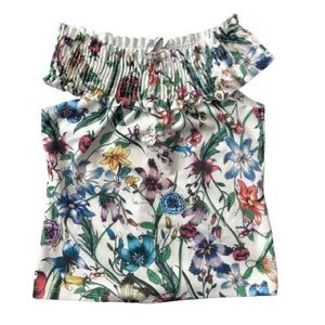 Zara TRF floral off shoulder top